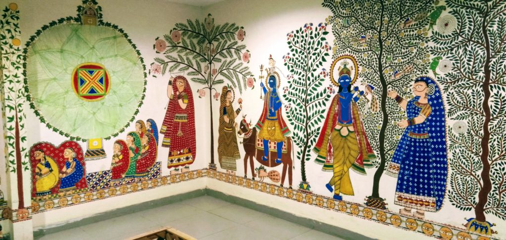 national handicrafts wall painting